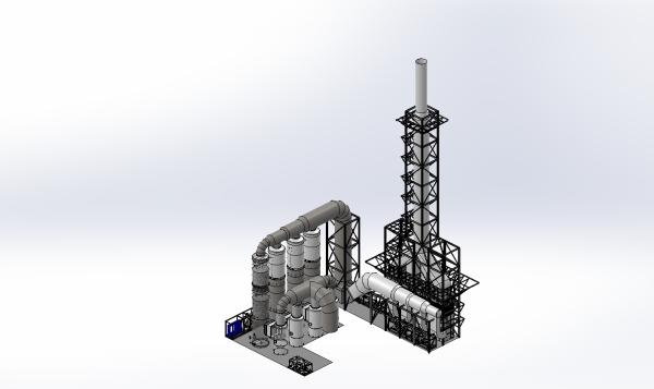 sulfit pulp mill scrubber, recovery boiler scrubber, red liquor boilerr