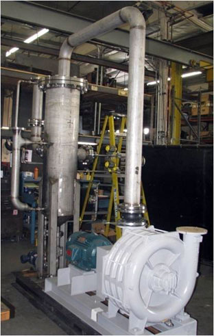 biomass gasifier scrubber