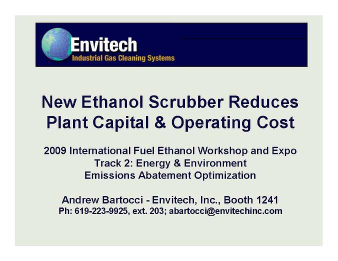 Ethanol Scrubber
