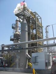 waste oil re-refiner SO2 scrubber