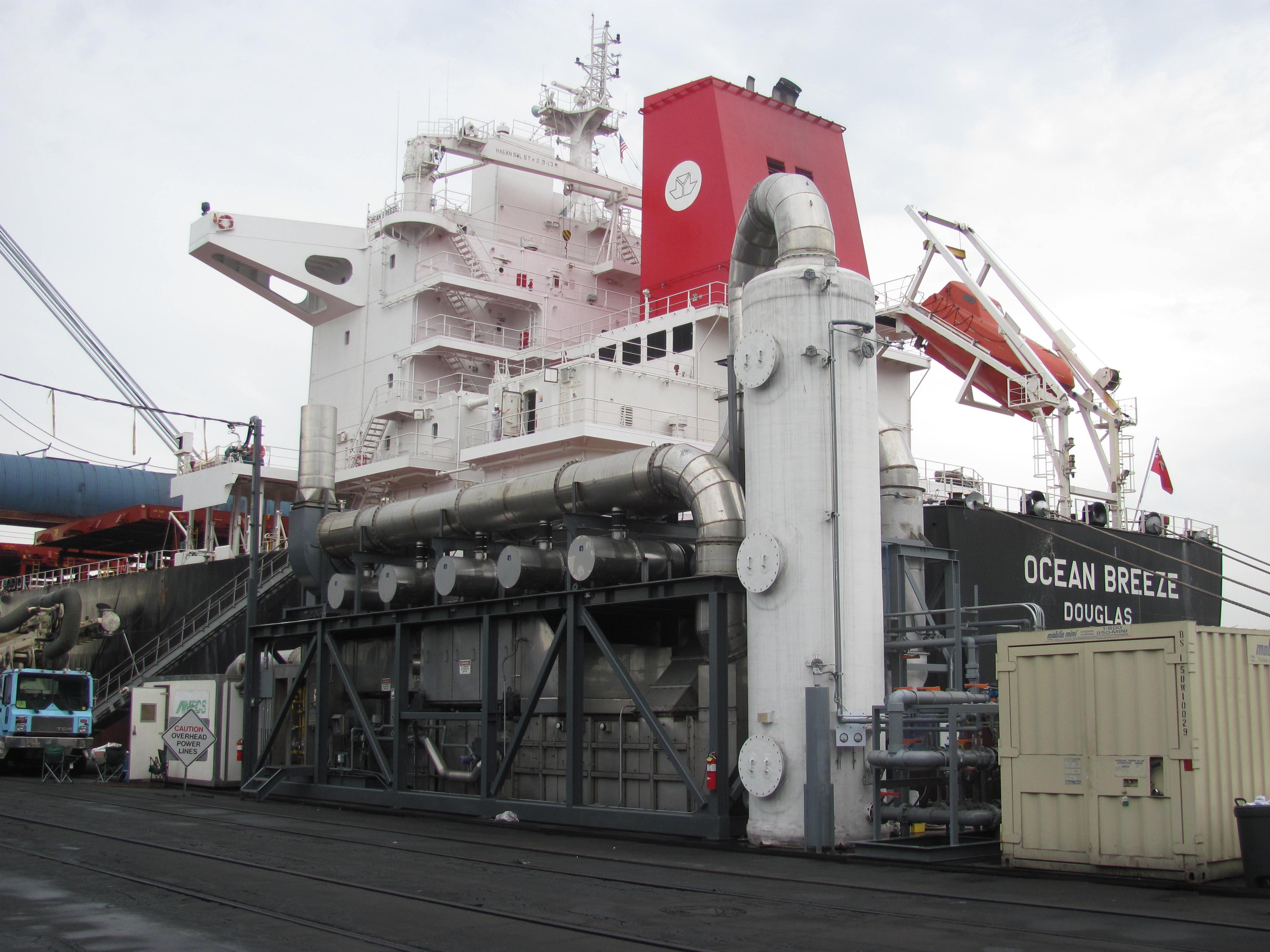 Marine diesel scrubber