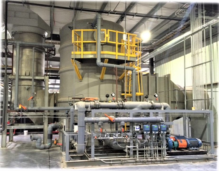 acid gas scrubber ceramic tile kiln