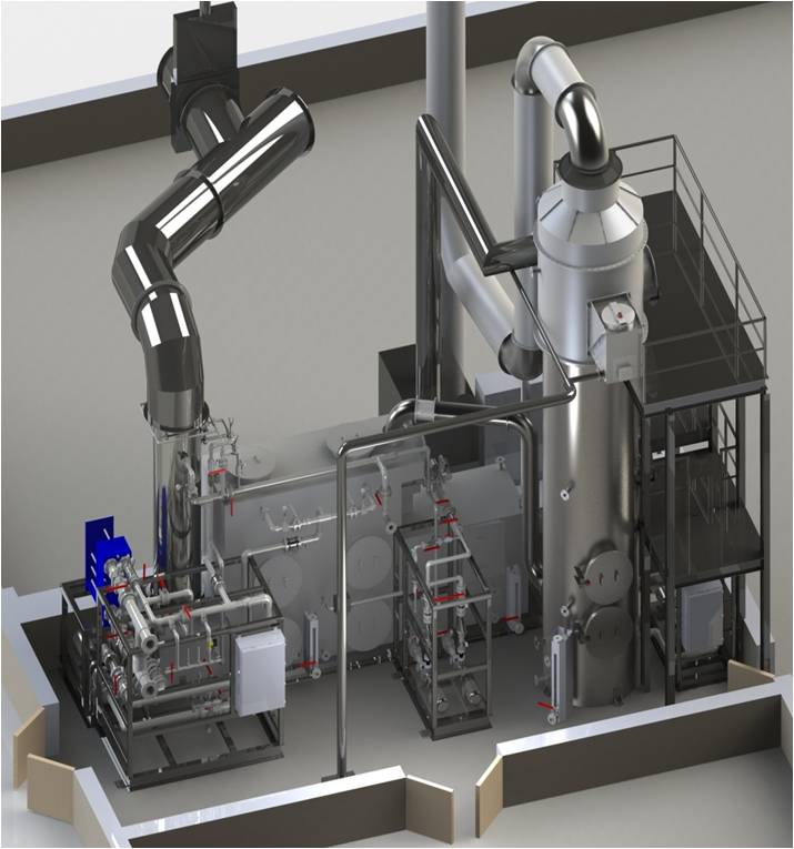Venturi scrubber medical waste incinerator