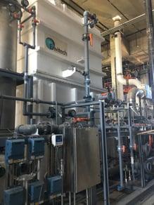 Med waste incinerator scrubber Front