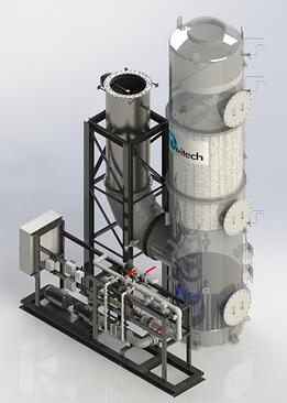 Refining furnace SO2 Scrubber